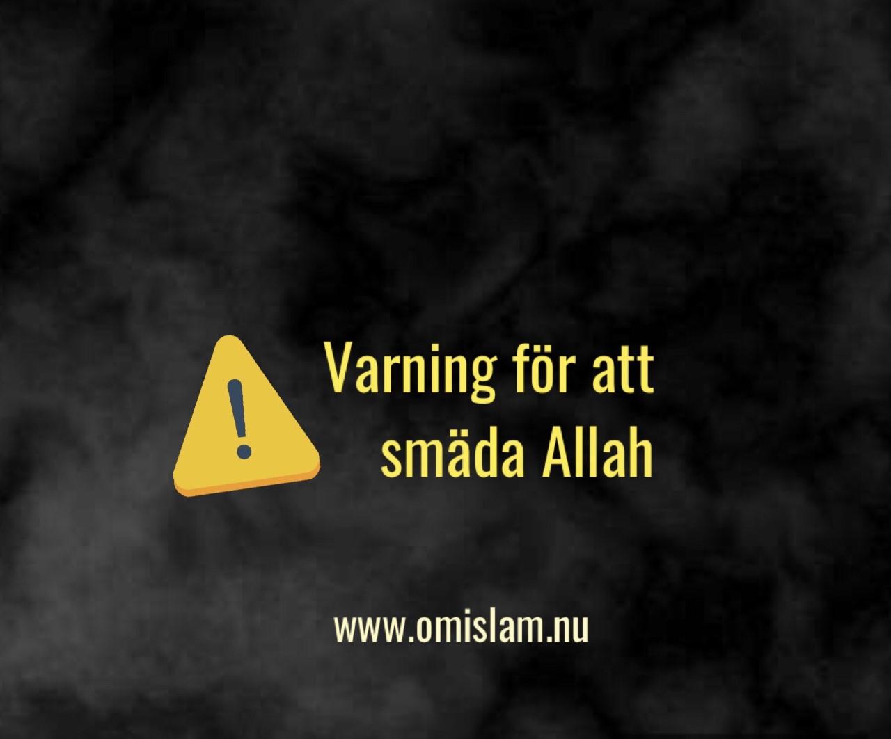 varning för att smäda Allah